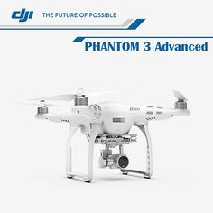 New DJI Phantom 3 Advanced Quad Drone12 Megapixel HD Camera with Spare Battery On #Ebay