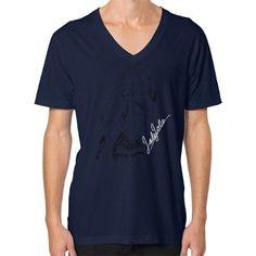 Jade Jolie 'Signature Illustration' T Shirt V-Neck (on man) Shirt
