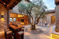 casas rusticas con patios internos - Buscar con Google