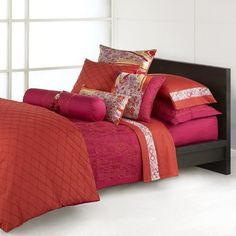 Natori Topkapi Palace Queen Duvet Cover by Natori. $299.99. Duvet face features stylish diamond pleating on a patterned jacquard weave. Queen-size duvet cover from Natori. Reverses to complementary cerise; shell button closure. Measures 92 by 96 inches; imported. 300-thread-count blend of Rayon made from bamboo and cotton; dry clean. Amazon.com Product Description                This vibrant duvet cover, inspired by bold and colorful embroidered textiles of the sultans of I...
