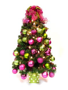 I see a pink and green christmas tree in my future! | Lilly, Lilly ...