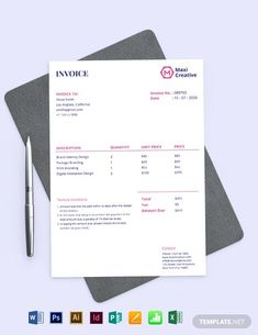 Letterhead Template Word, Invoice Template, Flyer Template, Templates, Microsoft Publisher, Microsoft Excel, Adobe Indesign, Adobe Photoshop, Vintage Typography