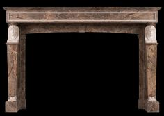 A French Empire Sarancolin and Statuary marble fireplace. Stock No: 3986