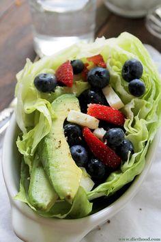 Very Berry Avocado Salad   www.diethood.com   Sweet and refreshing Very Berry Avocado Salad combined to make a healthy and delicious summer treat.   #recipe #berries #salad #avocado