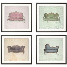 Pottery Barn Vintage Couch Print 2 (560 SAR) ❤ liked on Polyvore featuring home, home decor, wall art, paper wall art, vintage home decor, giclee wall art, inspirational home decor and motivational wall art