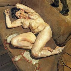 Lucian Freud Naked Portrait With Reflection