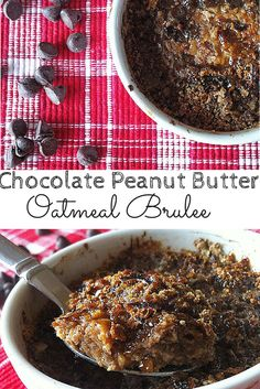 Chocolate Peanut Butter Oatmeal Brûlée