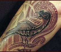 Closest thing I've seen to the Crow I want to complement my Day of the dead half sleeve.