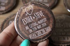 WOODLAND design Save the Date Magnets by WeddingSavetheDates