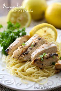 Lemon Herb Chicken Pasta [ KellysDelight.com ] #dinner #delight #sugar