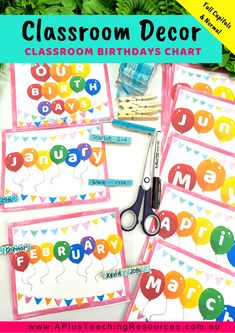 This Watercolour Rainbow Classroom Decor Kit has everything you need to get your classroom looking bright, welcoming and inviting and educational. Teacher Freebies, Classroom Freebies, Classroom Activities, Classroom Decor, Classroom Birthday, Birthday Charts, Subitizing, Back To School Bulletin Boards, Animal Alphabet