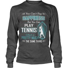 Cant buy happiness but can play #TENNIS Dad Mom Men Man Woman Women Wife Husband Girl Boy Lady Player, Order HERE ==> https://www.sunfrog.com/Sports/111905772-365859934.html?58114, Please tag & share with your friends who would love it, #renegadelife #xmasgifts #birthdaygifts  #tennis tips, tennis players, tennis shoes  #tennis #animals #goat #sheep #dogs #cats #elephant #turtle #pets