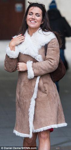 Susanna Reid flashes bare legs in fluffy sheepskin coat Suzanne Reid, Good Morning Britain, Sheepskin Coat, Long Locks, Fur Coat, Beautiful Women, Victoria, Hollywood, Celebs