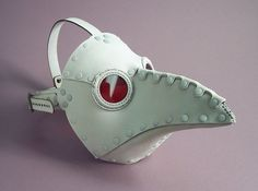 ɛïɜ Krankheit Riveted Plague Doctor Mask in White ~ Tom Banwell Designs *** Leather Masks & Steampunk ~ Etsy Shop ɛïɜ