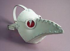 ɛïɜ Krankheit Riveted Plague Doctor Mask in White ~ Tom Banwell Designs *** Leather Masks & Steampunk ~ Etsy Shop ɛïɜ