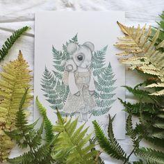 Kajsa Wallin: fern baby wearing print.