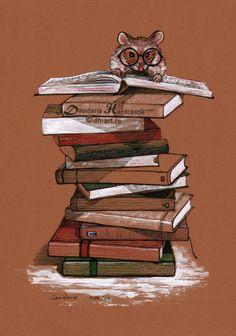 ratón de Biblioteca (ilustración de Dasidaria Hardcastle)