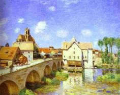 The Bridge at Moret by Alfred Sisley (1893)