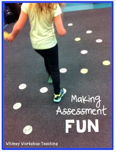 Making Assessment Fun: Bright Ideas June A quick way to increase engagement and enjoyment for assessment of sight words, math facts, etc. Also great as an active center: Hop Across The Pond. (short video) Whimsy Workshop Teaching