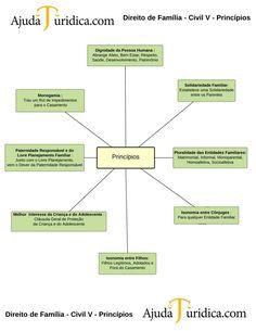 Direito de Família - Civil V - Princípios - New Page Knowledge, Study, Learning, Leis, Organize, English, Law School, Single Parent, Law