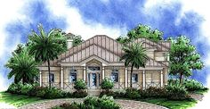 Dream home. House Plan 60534 | Florida   Mediterranean    Plan with 3020 Sq. Ft., 4 Bedrooms, 4 Bathrooms, 2 Car Garage