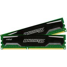 Crucial - 2-Pack 4GB PC3-12800 DDR3 Dimm Unbuffered Non-ECC Desktop Memory Kit