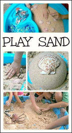 Make your own taste-safe play sand with just 2 simple ingredients! Feels and acts like damp sand - hours and hours of fun for kiddos of all ages.
