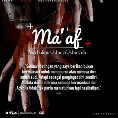 Semoga bermanfaat..saling mengingatkan . Muslim Quotes, Islamic Quotes, People Quotes, Me Quotes, New Reminder, All About Islam, Islamic Messages, Quotes Indonesia, Islamic Pictures
