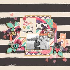Digital Scrapbook LO by Kendall using Runaround by Miss Mel Templates available at Pickleberry Pop and This Love Bundle by Amber Shaw and Amanda Yi