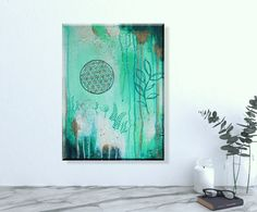 Original Painting on canvas Original Artwork, Original Paintings, Acrylic Painting Flowers, Flower Of Life, Boho, Abstract Paintings, Sacred Geometry, Tapestry, Wall Art