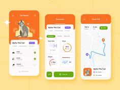 HomiPet - Pet Care App Concept designed by Tantriono Sasongko for Omnicreativora. Connect with them on Dribbble; Ui Design Mobile, App Ui Design, Application Design, Mobile Application, App Design Inspiration, Pet Care, Concept, Pets, Health App