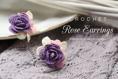 DIY - Häkeln Rose Brautjungfer Geschenk Schmuck - gioielli a uncinetto - brautjungfern kleider Diy Crochet Rose, Crochet Gifts, Crochet Flowers, Crochet Butterfly, Asking Bridesmaids, Bridesmaid Gifts, Wedding Bridesmaids, Bridesmaid Boxes, Bridesmaid Jewelry