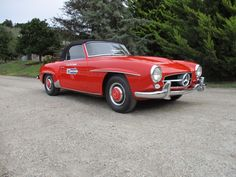 This 1959 Mercedes-Benz 190SL is in beautiful original condition and is absolutely rust free. Red with black interior, this 190 is an excellent driver and full of integrity. The car just completed the Colorado Grand in August and it did very well. A great buy and a very collectible car for only $89,500 ​ #gullwingmotorcars #classiccars #buy&sellclassiccars #VintageCarBuyer #ClassicCar  #antiqueCarBuyer #1959Mercedes-Benz190SL #Mercedes-Benz190SL #190SL #Mercedes-Benz
