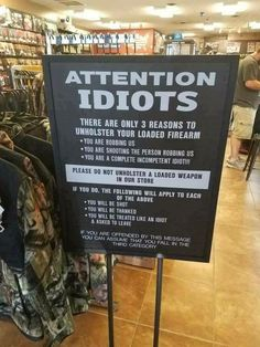 Attention Idiots – IOTW Report