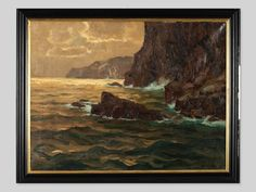Oil Painting 'Sunshine on the Reef' by E. Mercker, around 1920