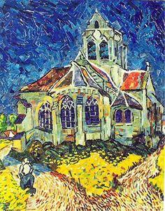 "Vincent van Gogh ""The Church at Auvers"" by Ed Chapman, mosaic artist."