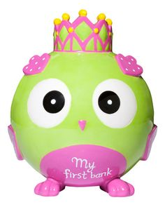 Elegant Baby Princess Owl Bank