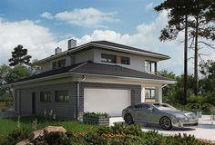 Projekt domu Piryt - murowana – beton komórkowy 164 m2 - koszt budowy - EXTRADOM Architect House, Design Case, House Plans, Exterior, House Design, Mansions, House Styles, Home Decor, Houses