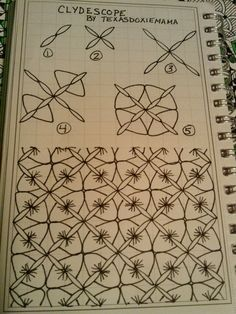 Tangle: Clydescope ~ I love these tangle ideas, but you gotta be able to create these without graph paper!