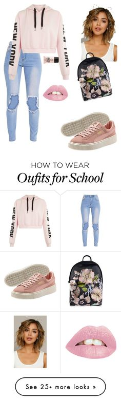 """Just School"" by skittlecutie716 on Polyvore featuring Ted Baker and NYX"
