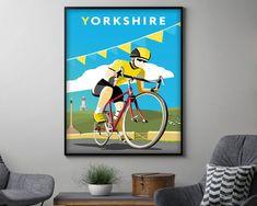 Wall Art Sticker Tour de Yorkshire Vinyl wall art decal