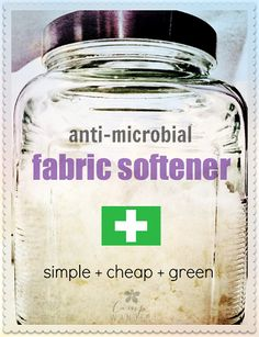 DIY Anti-Microbial Fabric Softener: Easy, Green and Cheap! 1 – 64 ounce bag of Epsom Salts (Magnesium Sulfate) 40 drops Lavender 30 drops Melaleuca 20 drops Lemon Homemade Cleaning Products, Cleaning Recipes, Natural Cleaning Products, Cleaning Hacks, Household Products, Cleaning Supplies, Cleaning Blinds, Laundry Supplies, Soy Products