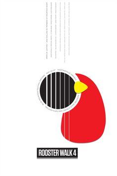Rooster Walk 4 - Event Poster Artwork by Selman Design