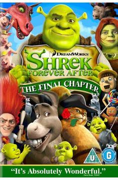 Loved all the Shrek movies, but this one was as good as first. Love that Donkey!