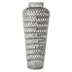 Fez Vase with mosaic mirror and clear tiles, $69.95