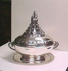 Tureen Artist: Georg Jensen (Danish, Rådvad 1866–1935 Hellerup) Date: ca. 1925 Culture: Danish Medium: Silver Vintage Silver, Antique Silver, Art Object, Large Art, Candelabra, Decorative Bells, Art Museum, Metropolitan Museum, Danish