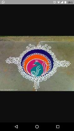 Colour Rangoli, Latest Rangoli, Diwali Decorations, Simple Rangoli, Nikko, Rangoli Designs, Silk Thread, Chainmaille, Acrylic Paintings