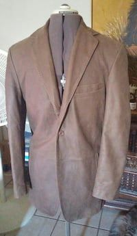 Mens Medium Dress Jacket. Soft Leather, lined. Used once. Color: Taupe Retail price $300.