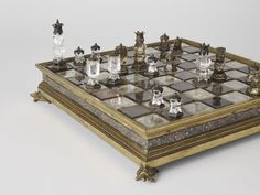 A 16th-century set made from rock crystal, topaz and silver, commissioned for royalty.