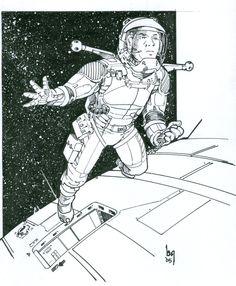Spacewalk by Sabakakrazny.deviantart.com on @DeviantArt